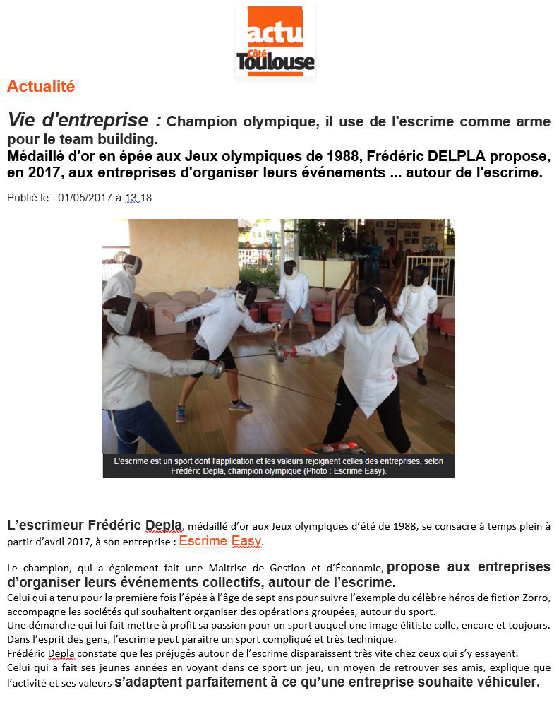 Team Building Incentive Seminaire article COTE TOULOUSE 1