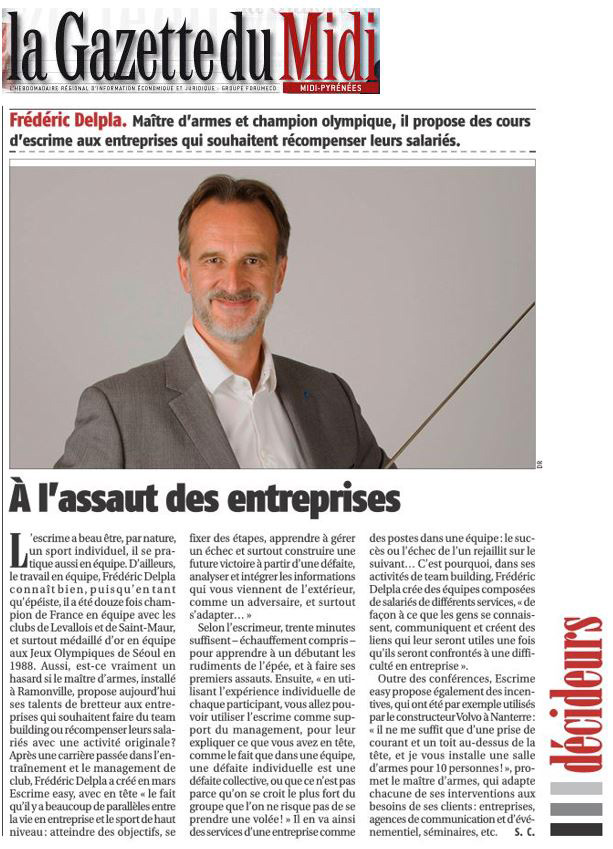 Incentive team building semainaire article La Gazette du Midi