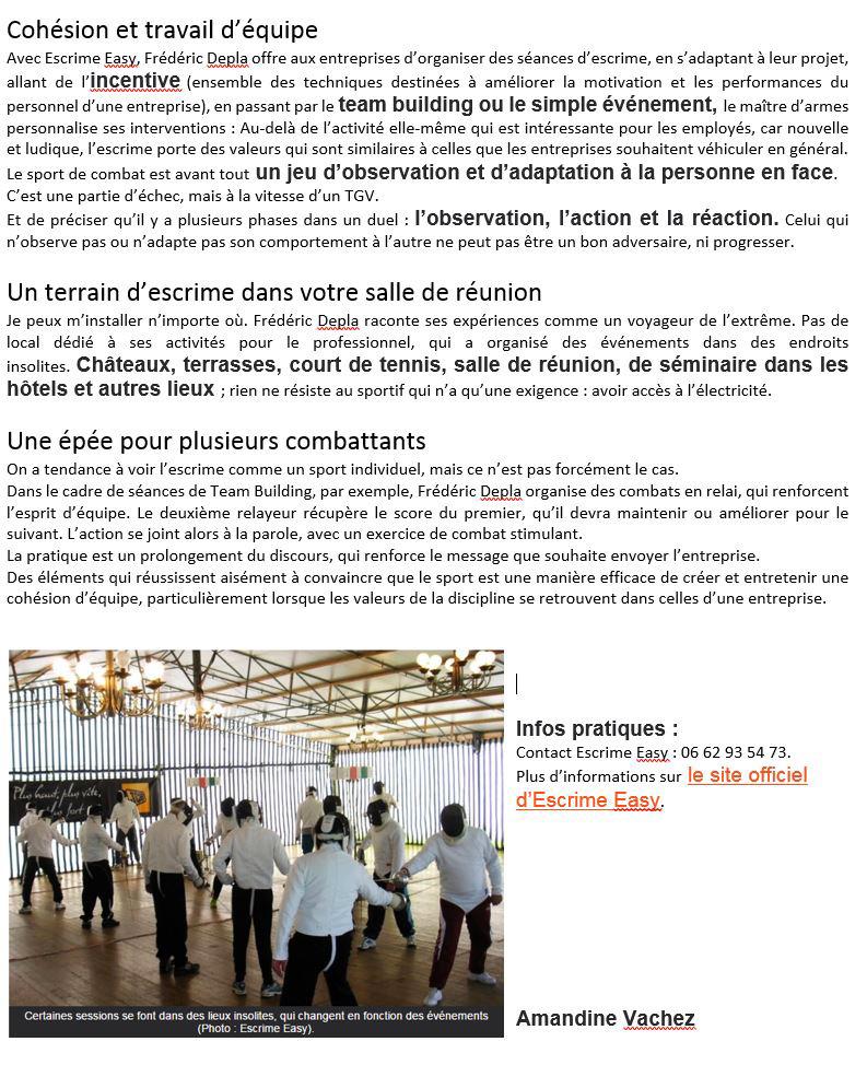 Team Building Incentive Seminaire article COTE TOULOUSE 2